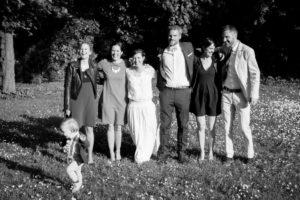 Les mariés et leur témoins à Coutances, mai 2017