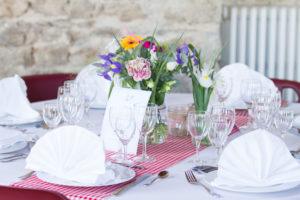 Lé décoration de table du mariage de Nicolas & Barbara à Coutances