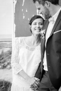 Barbara & Nicolas à la plage de Gouville sur mer