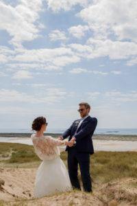 Les mariés sur la plage mai 2017