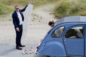 mariage bohème Nicolas et la robe de mariée de Barbara à Gouville sur mer