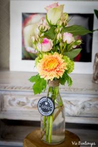 composition florale et vase fleuriste au havre