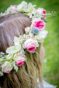 couronne de fleurs de la boutique atelier zazi fleurs fleuriste au havre