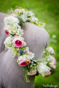 couronne de fleurs création de sandrine fleuriste au havre