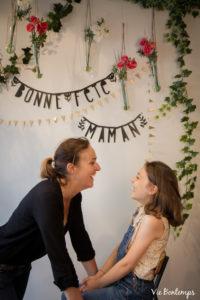 cécile et sa fille jeanne pendant le shooting fête des mamans fecamp 2017