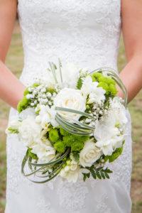 le bouquet de fleurs de la mariée photo du joli mariage en normandie