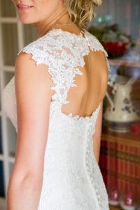 la jolie robe de mariée d'elodie joli mariage en normandie