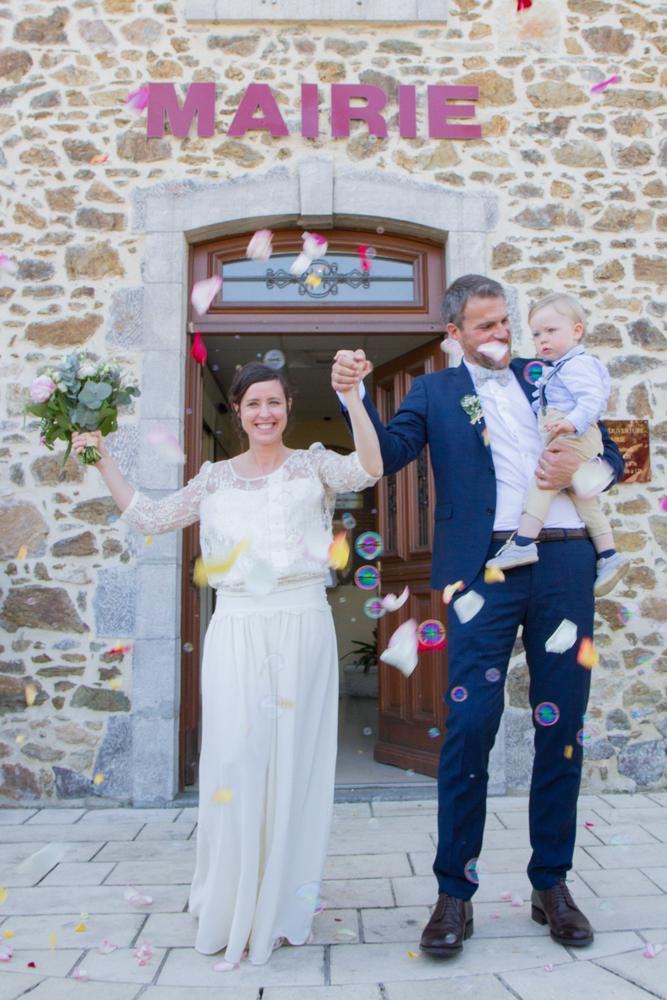 photographe mariage bohème normandie mairie gouville sur mer