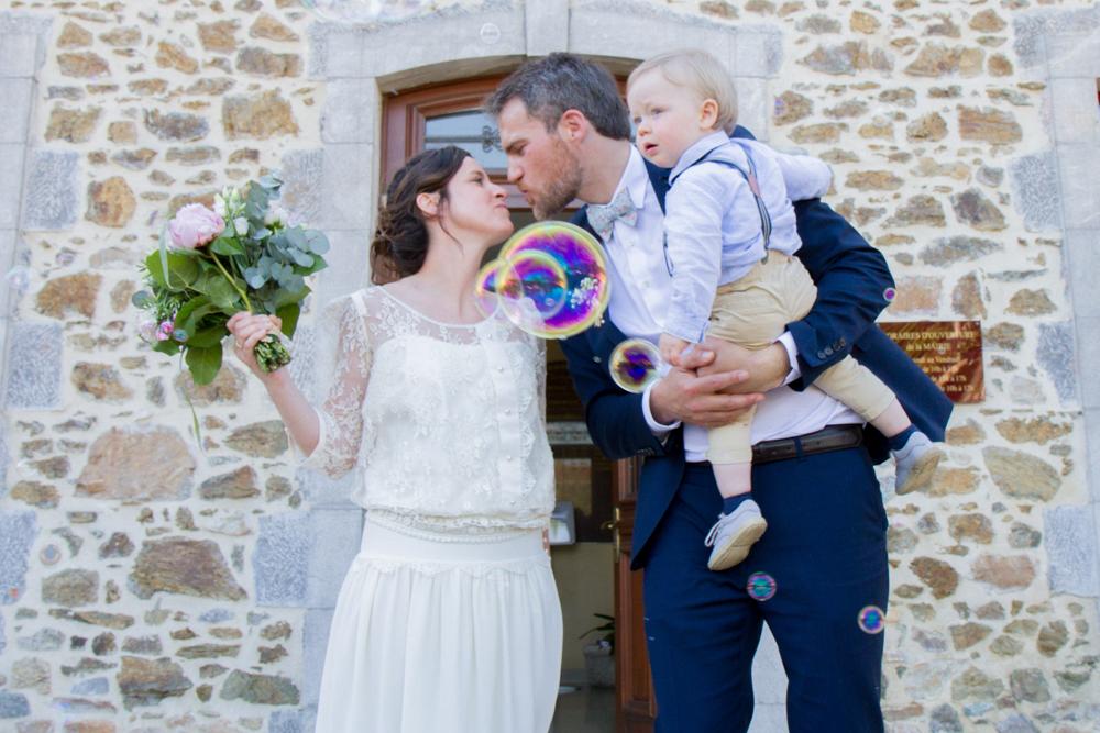 photographe mariage bohème normandie mairie