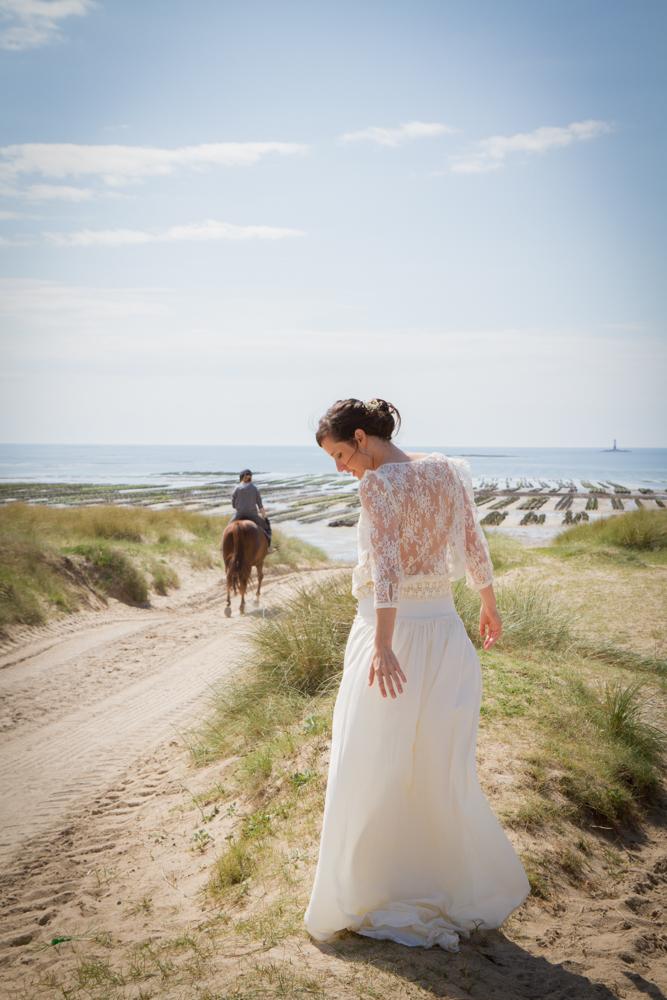 photographe mariage bohème normandie cheval