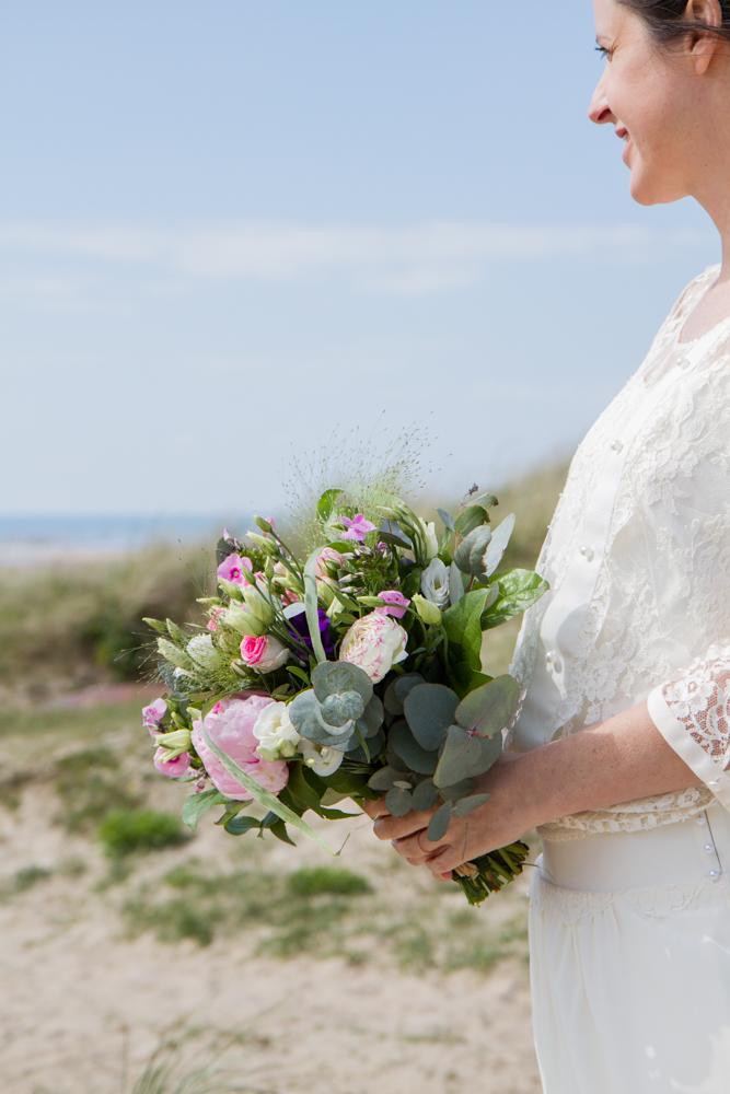 photographe mariage bohème normandie fleur