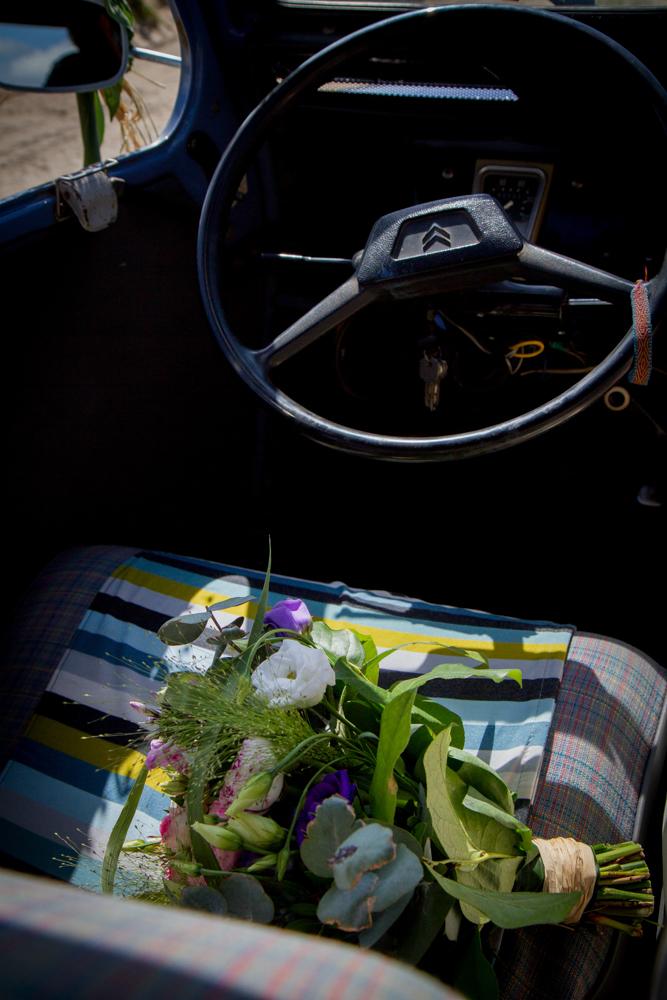 photographe mariage bohème normandie bouquet fleurs
