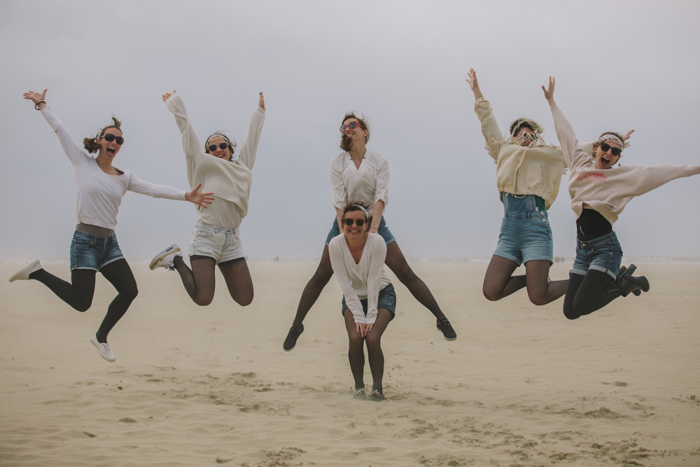 photographe evjf deauville normandie saut