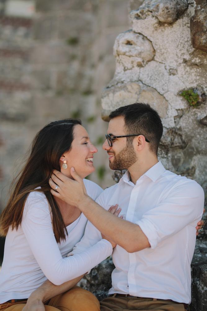 photographe de mariage en Etretat normandie la séance photos engagement