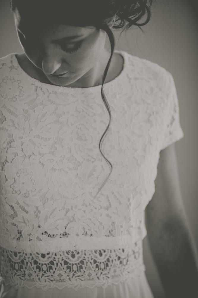 photographe de mariage en Normandie détail de la mariée