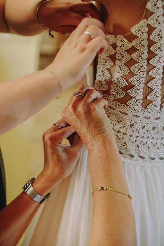 photographe de mariage en Normandie Le Havre la robe