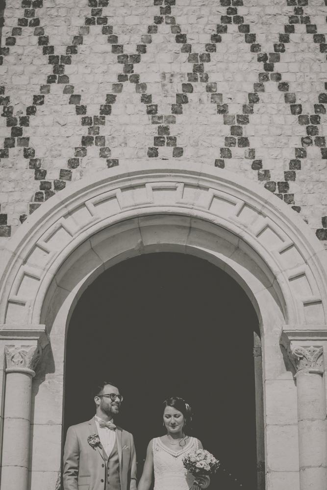 photographe de mariage en Normandie Le Havre sortie cérémonie