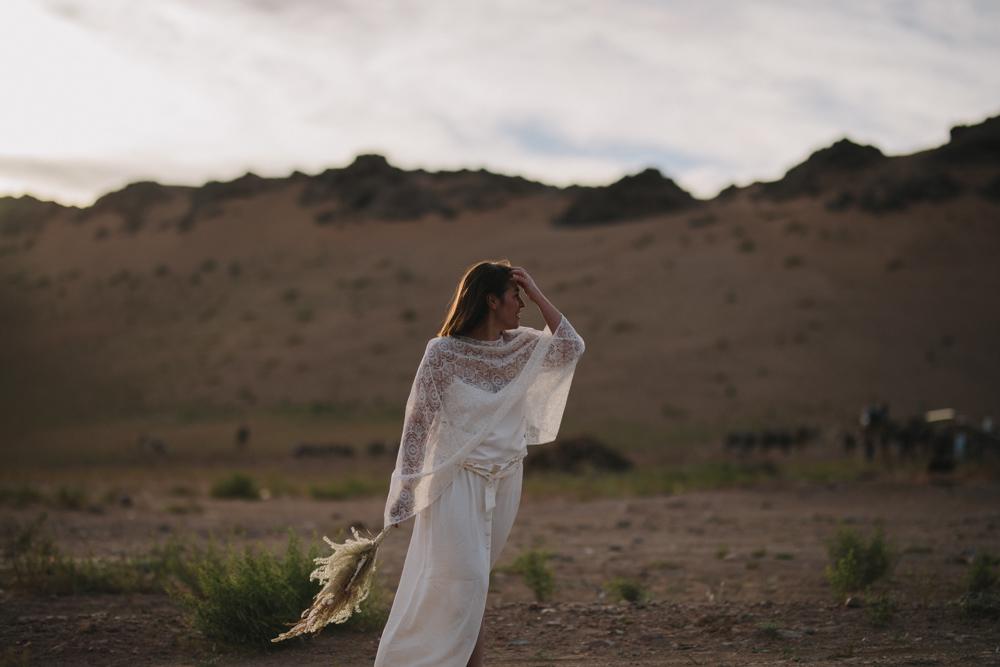 photographe mariage dans le désert de agora au maroc