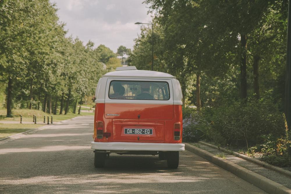 photographe de mariage a le havre en normandie combi VW